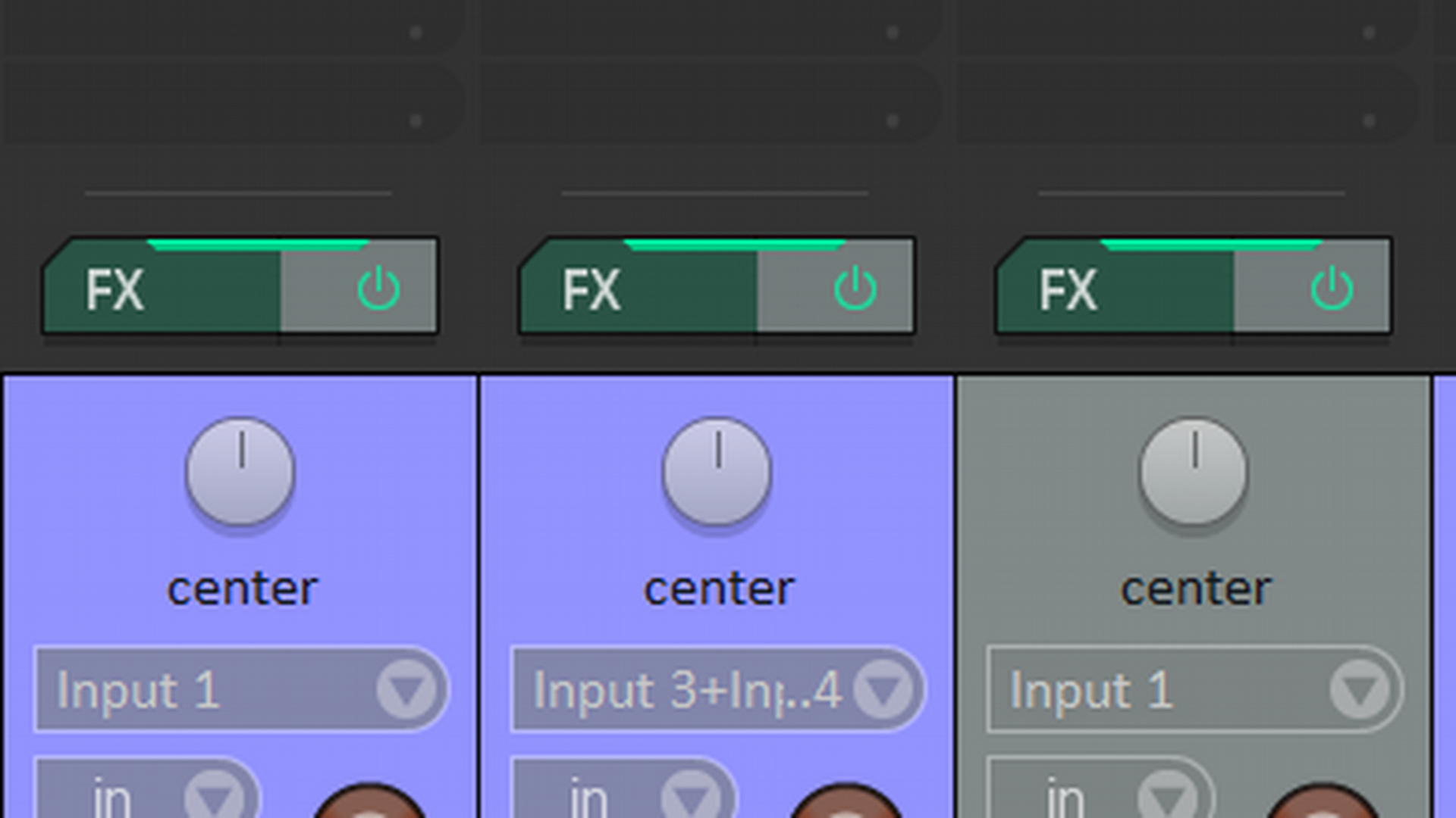 Mixer settings for the clean example.